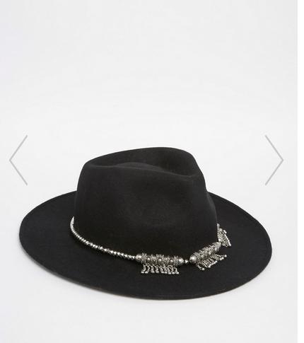 chapeau asos, asos, panama, chapeau feutre, chapeau noir