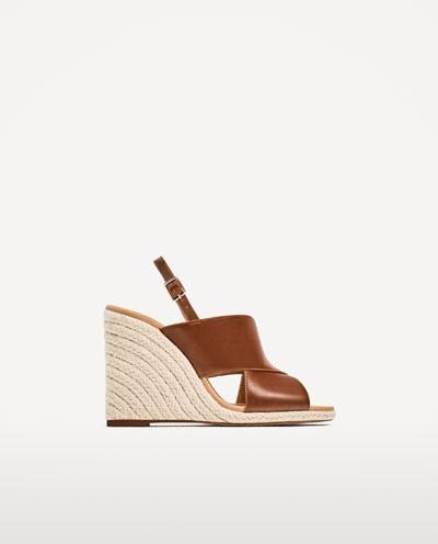 sandales, sandales compensées, sandales talons, zara, chaussures femme, chaussures compensées, blog mode