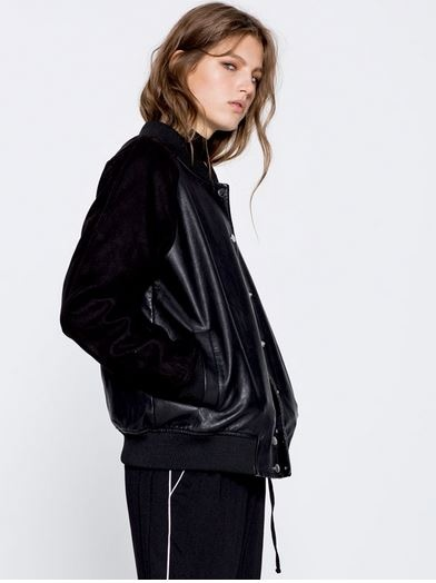 blouson motard, pull and bear, the green ananas, blog mode, blouson motard femme