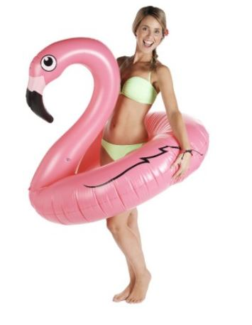 flamingo, pool party, blog mode, the green ananas, flamand rose, bouée flamingo rose.JPG