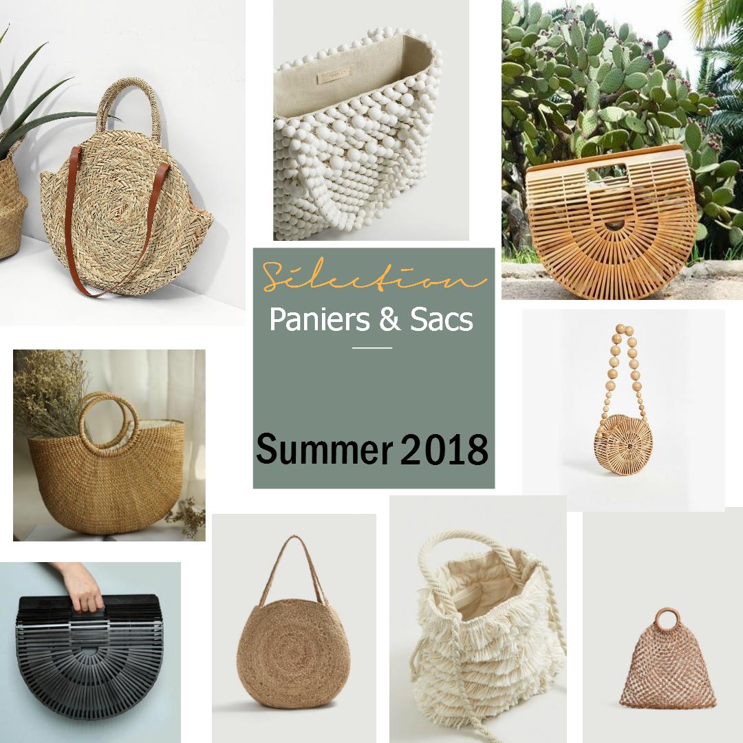 Sélection paniers & sacs / Summer 2018