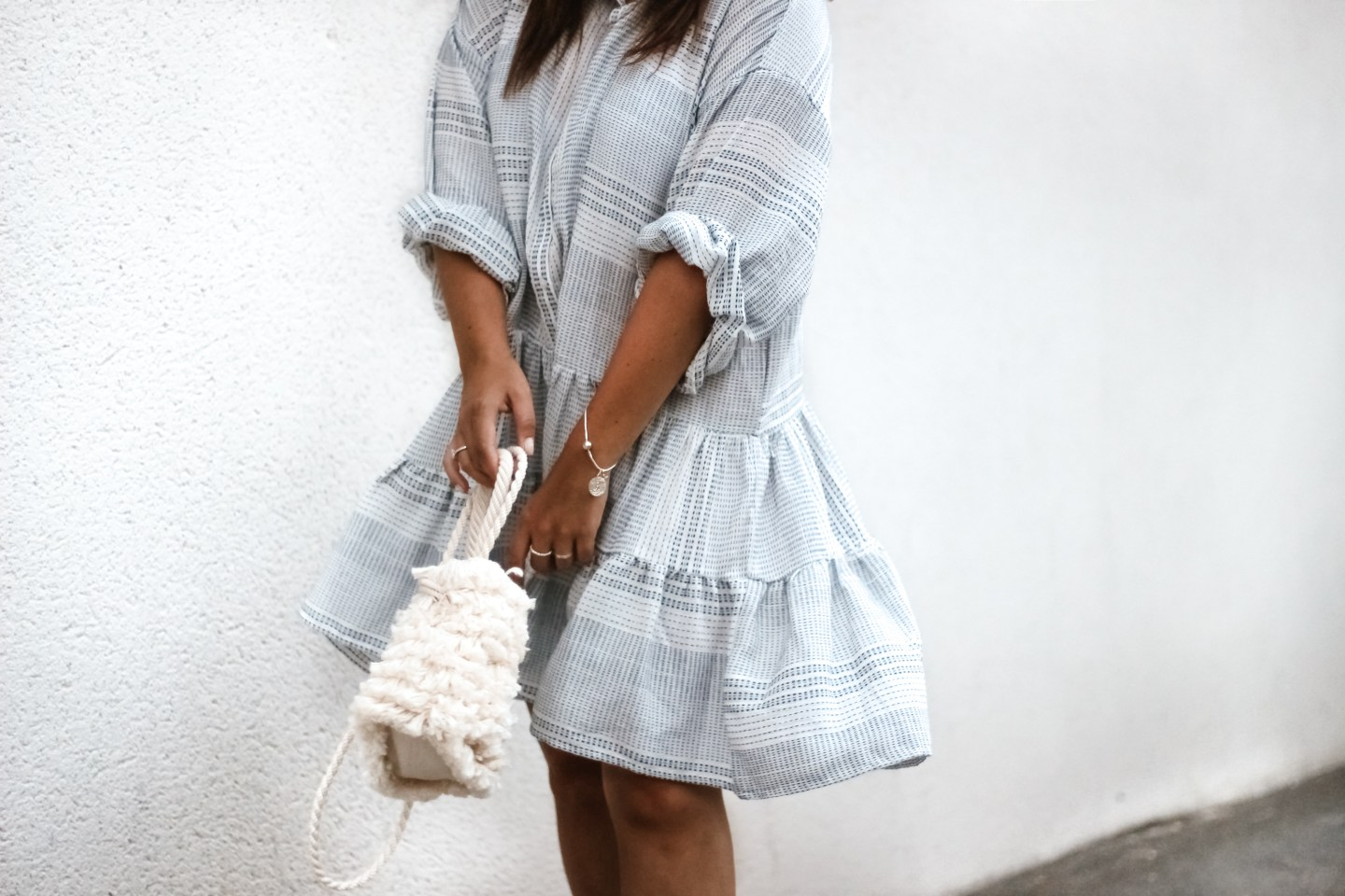 H&M DRESS & FLUFFY BAG !