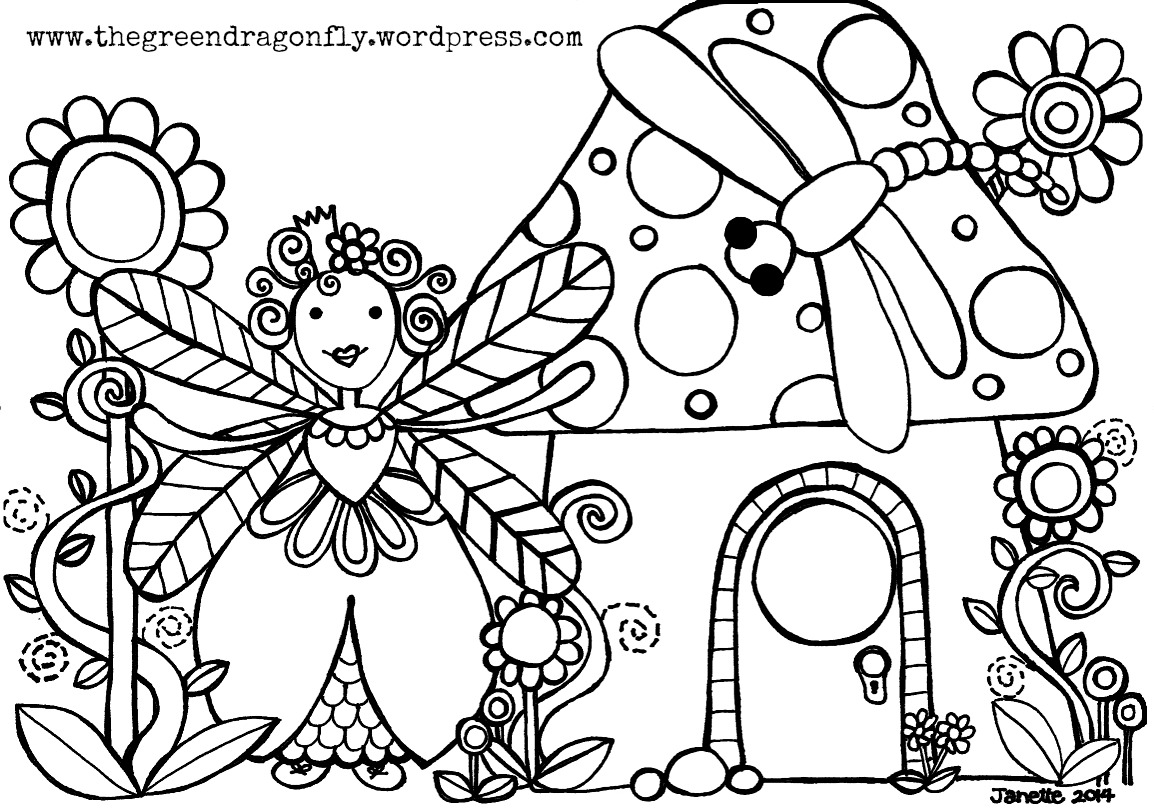 Fairy Coloring Pages Pdf Coloring Page