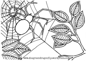 Coloring Sheets – The Green Dragonfly