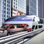 O ônibus que trafega por cima dos carros, transporta mil pessoas e é movido a energia solar