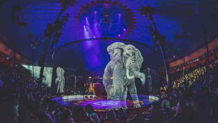 Circo alemão cria lindos hologramas por se recusar a usar animais reais