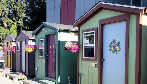 De mulheres para mulheres! Grupo de carpinteiras constrói vila de casas minimalistas para mulheres sem-teto morarem