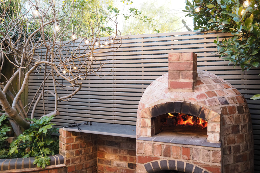 Installing a wood fired pizza oven in our garden - The ... on Outdoor Patio With Pizza Oven  id=12297