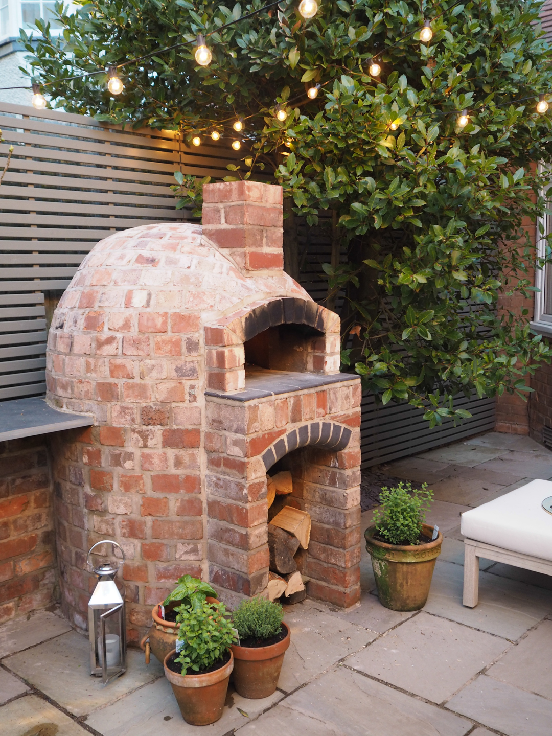 Installing a wood fired pizza oven in our garden - The ... on Outdoor Patio With Pizza Oven  id=13534