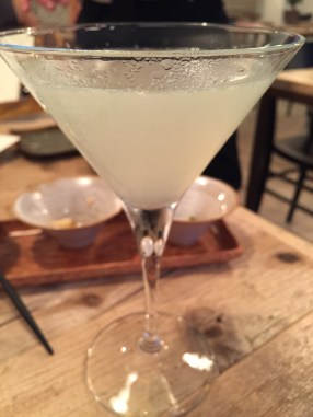 Rose and Lychee Martini: heavy on the rosewater