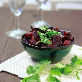 Wondering what to do with those beet greens you *almost* tossed? Look no further - supplement dinner with a beet and beet green stir-fry! via Richa Hingle http://bit.ly/P1hOXp