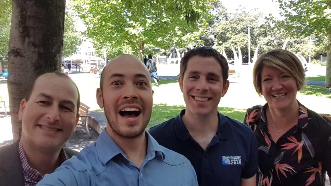 dsquared team selfie