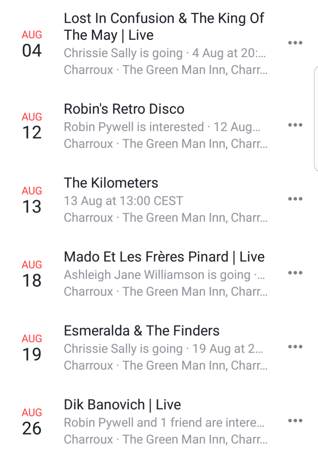 August at the green man inn