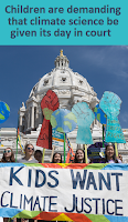 kids protesting at the white house for climate justice