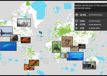 protected areas and new species on the map of the world