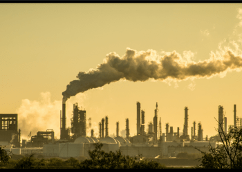 fossil fuel plant pollution the air
