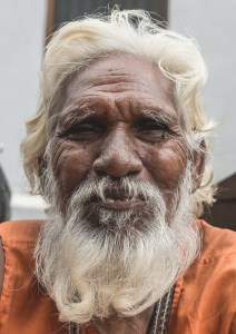 An Indian Beggar besieged by despair