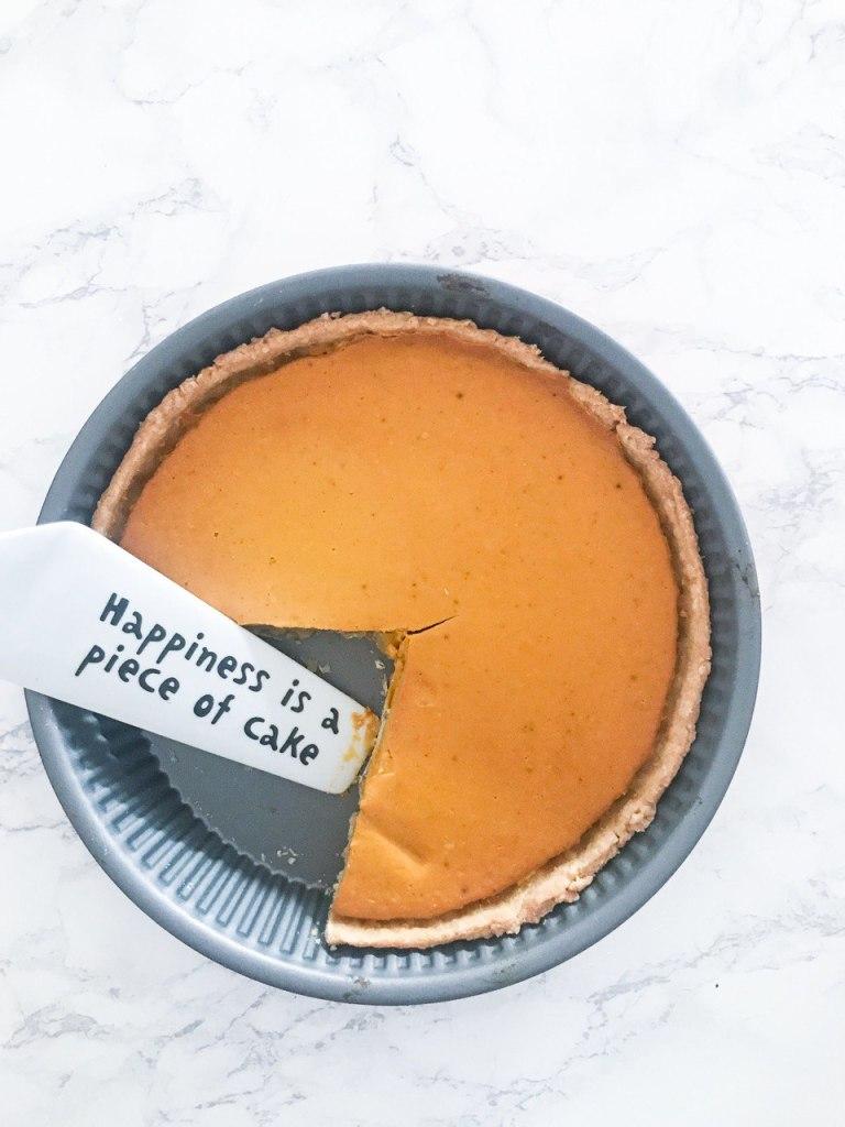 Pumpkin pie senza burro e senza panna