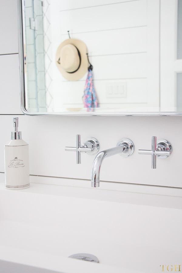 white modern bathroom makeover the
