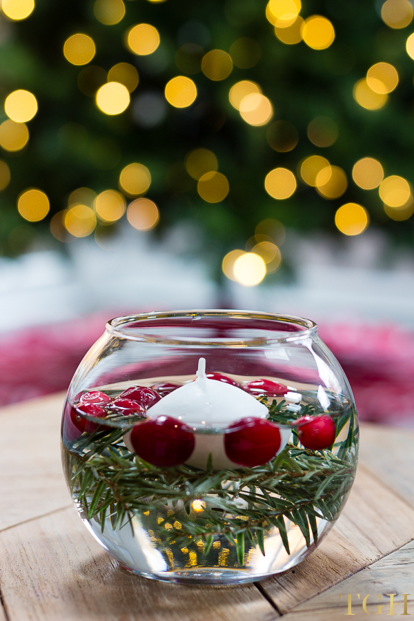 DIY Holiday Floating Candles The Greenspring Home