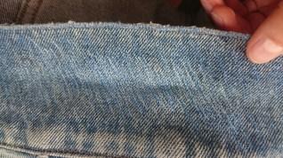 Kragen der Jeansjacke