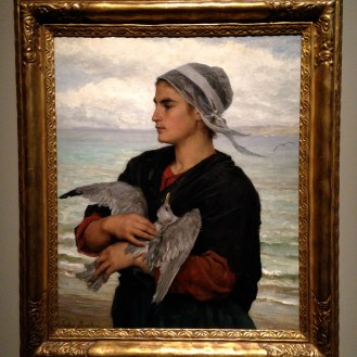 'The Wounded Seagull' ca. 1878 by Jules Breton