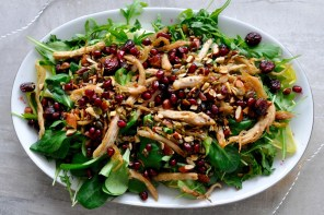 Turkey Salad & Warm Tangerine Drizzle