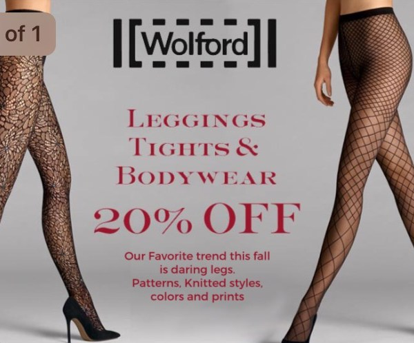 WOLFORD: 20% Off right now at Petticoat Lane on Greenwich Ave