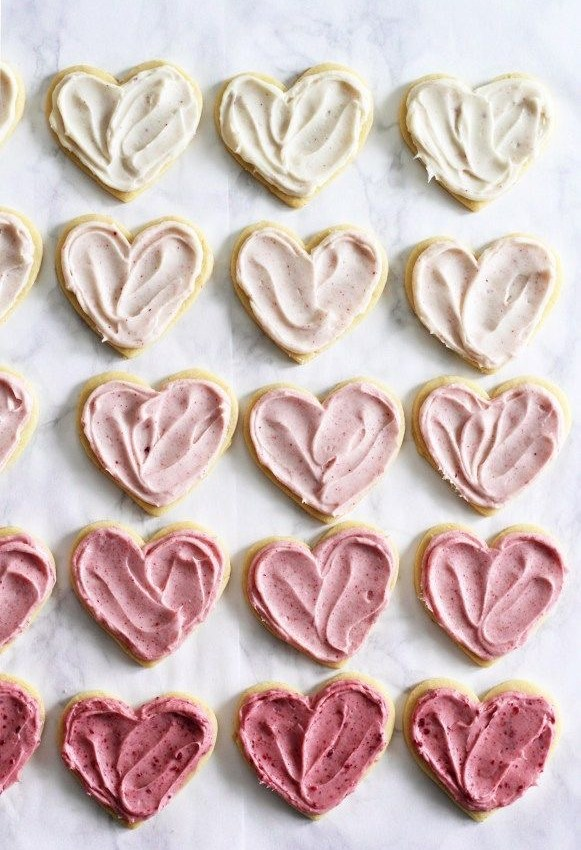 Heart Frosted Sugar Cookies