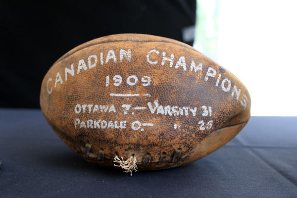 1909 Grey Cup Game Ball