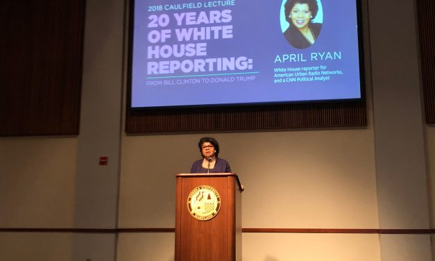 White House Correspondent April Ryan talks politics, importance of news at 29th Caulfield Lecture