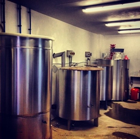 Brewing in the granary (Photo attributed to Jordan Harris)