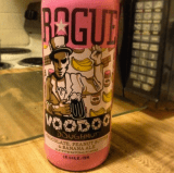 """Voodoo Doughnut Chocolate, Banana & Peanut Butter Ale sent in via instagram by @compton8734 who said """"Love me some Rogue beer, this one is actually pretty good, chocolate, peanut butter and banana ale."""""""