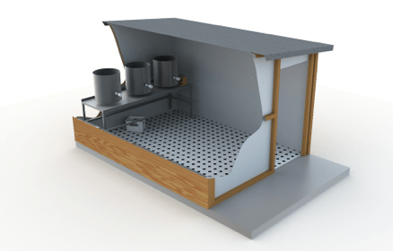 The design of the brew shed