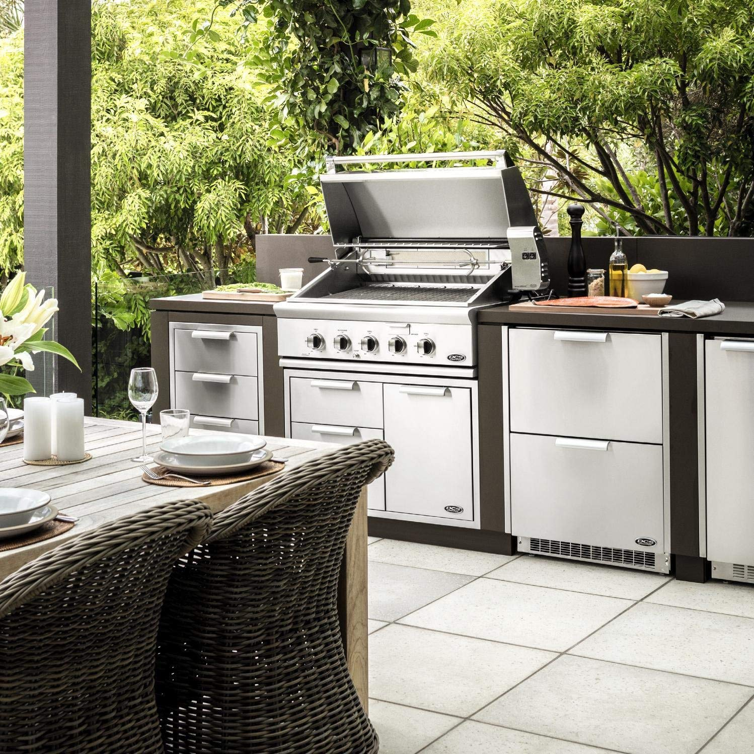 DCS 36-Inch Built-In Natural Gas Grill Review and Rating on Built In Grill Backyard id=71092