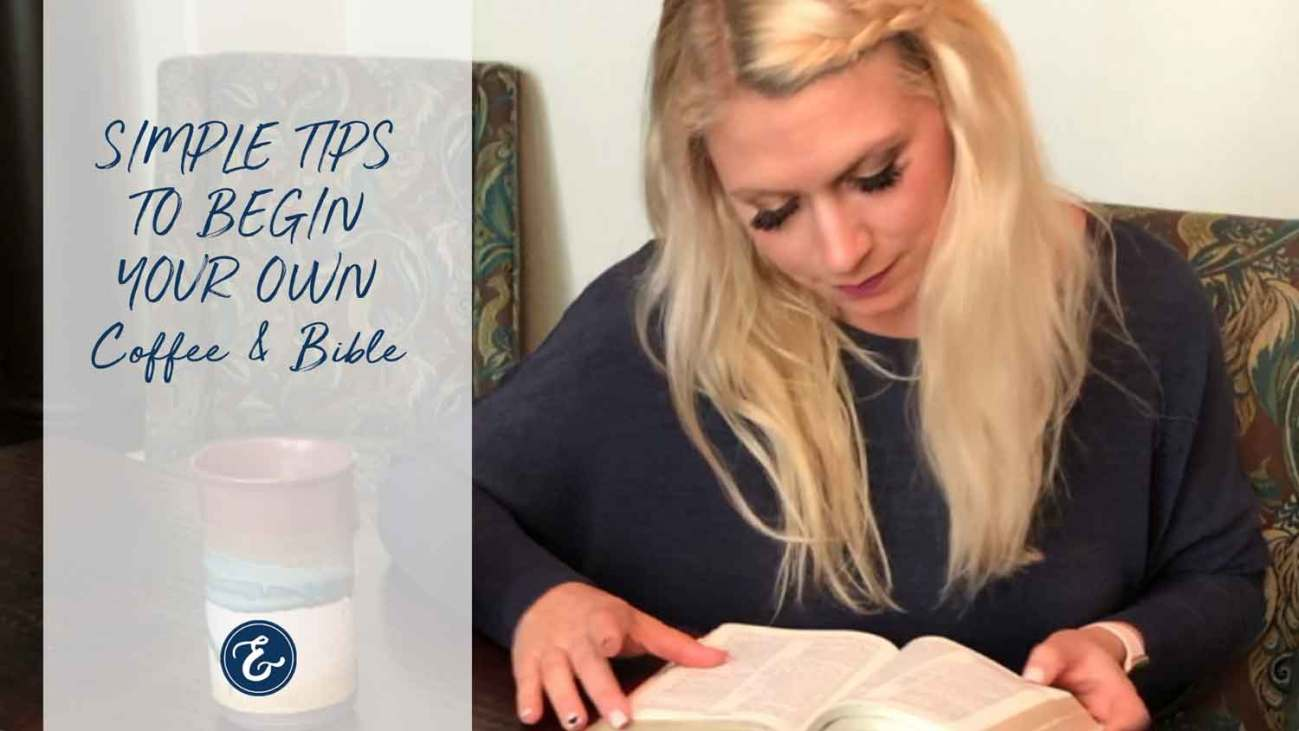 Julie coffee and Bible