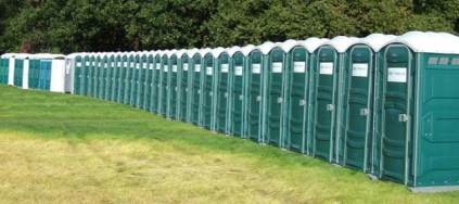 The Ultimate Guide to Badminton Horse Trials - portable toilets galore