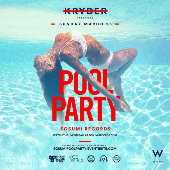Sosumi Miami Pool Party Kryder