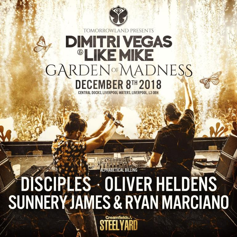 1aDimitri vegas like mike Garden of Madness Steel Yard Liverpool