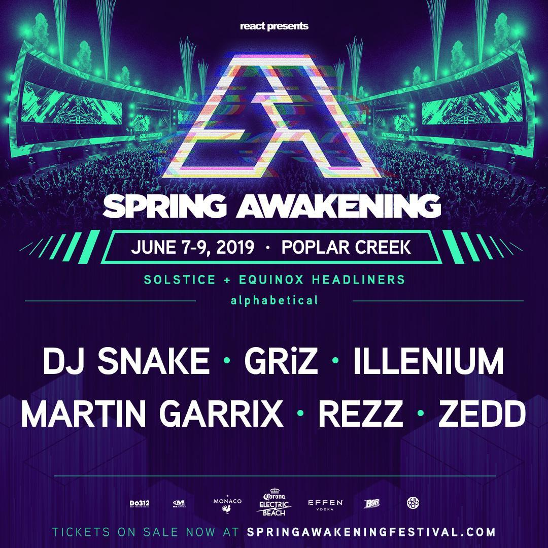 Spring Awakening Music Festival Chicago lineup location