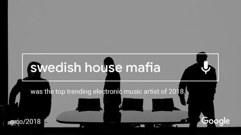 Google top trending Swedish House Mafia