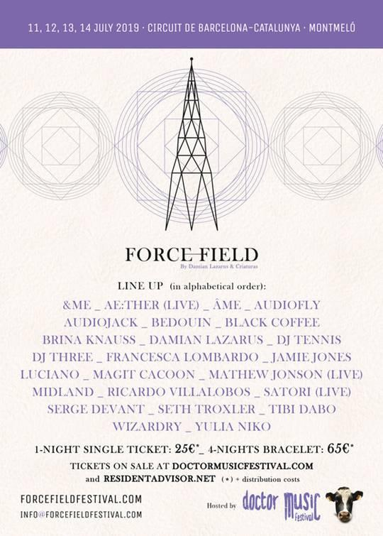 Damian Lazarus Force Field Doctor Music Festival Lineup