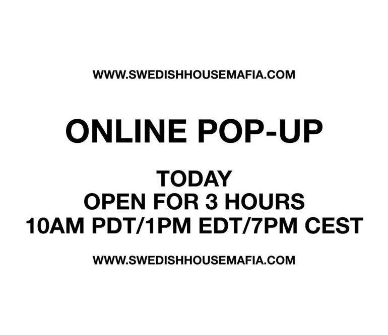 Swedish House Mafia pop-up store