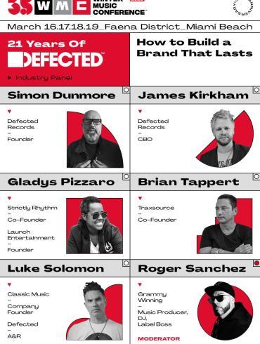 21 Years of Defected WMC panel flyer