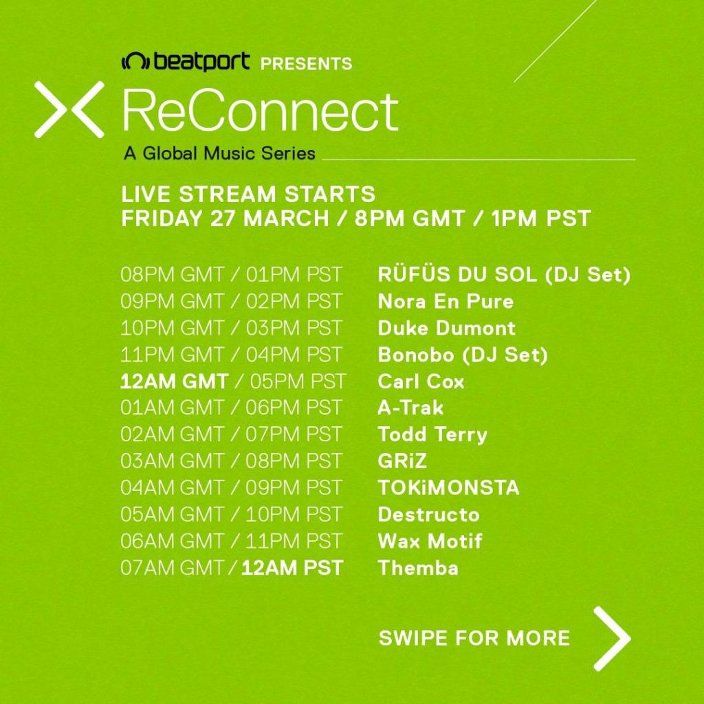 ReConnect Beatport LIVE schedule 1