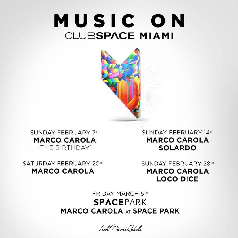 Marco Carola Music On Space Miami