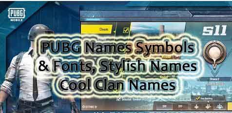 PUBG Name Symbols