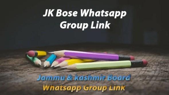 JK Bose Whatsapp group link