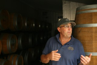 Supervisor Groves at his winery.