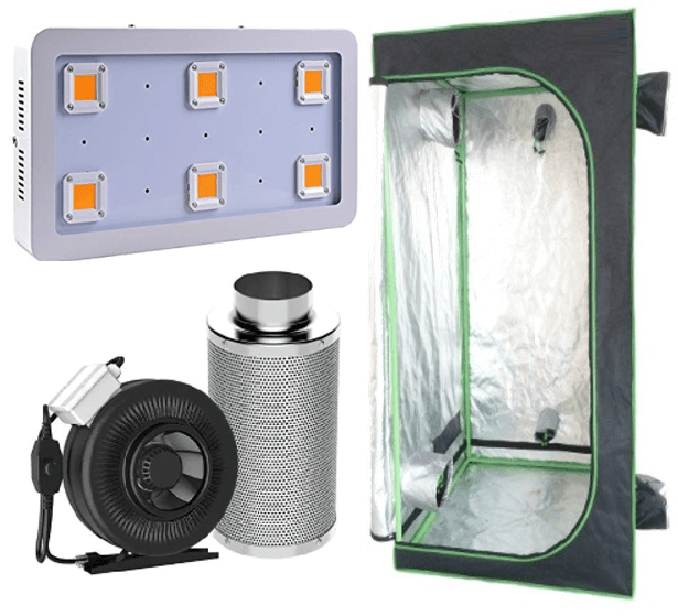 King Grow Kit (5×5)  sc 1 st  Grow Kit Canada & 4x4 Grow Tent Light Kit - Complete Indoor Hydroponic Grow System